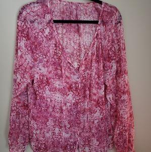 3/$30 Pink boho blouse
